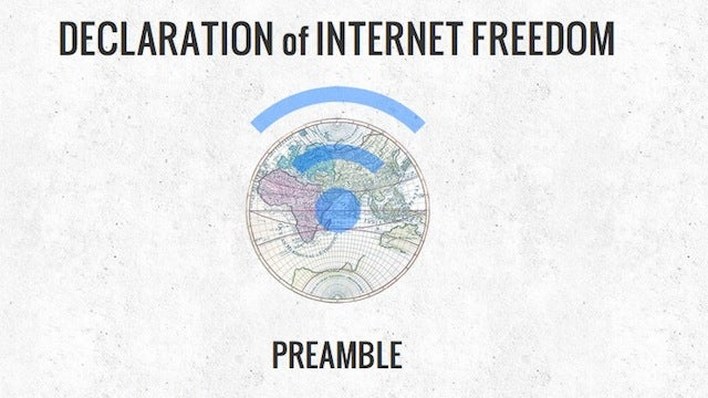Let the EFF Convince You to Sign the Declaration of Internet Freedom