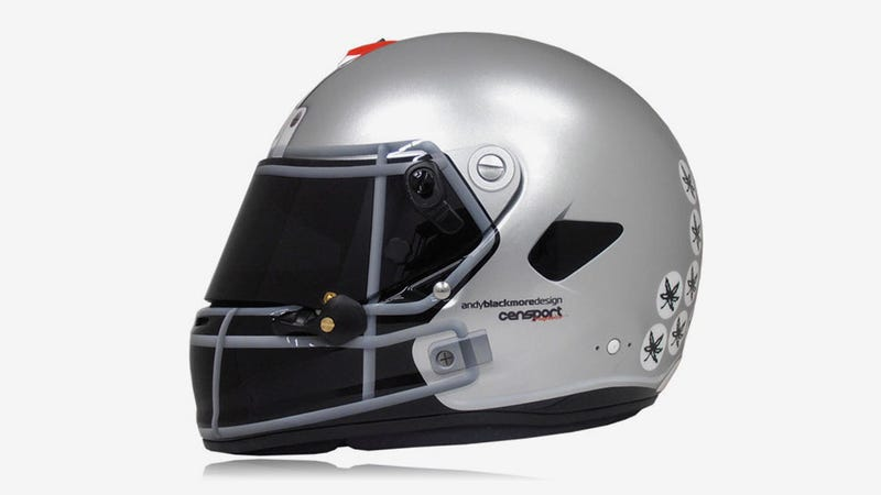 This Racing Helmet Will Bring Tears To Ohio Fans' Buck-Eyes