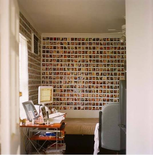 A House Wallpaper Made With a Thousand and One Polaroids
