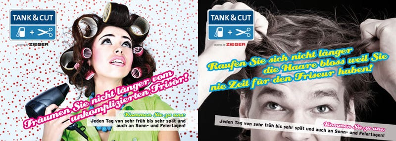 Crazy German Gas Station Offering Haircuts With Fill-Ups