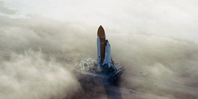 A Foggy Morning Adds Surrealism to the Wonder of Spaceflight