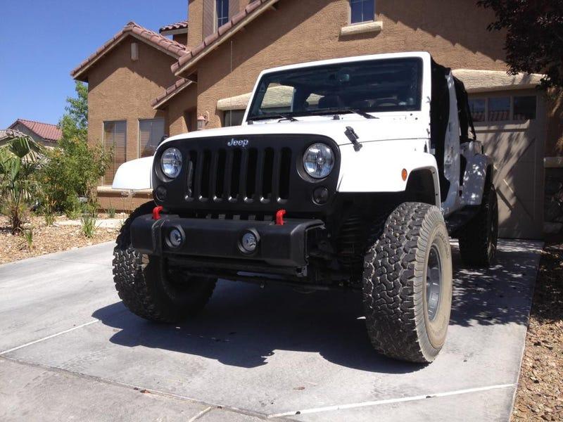 Stubby front bumper: