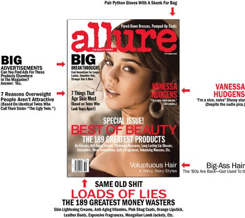 "Allure Fights Natural Aging Process, Prefers ""Nice, Naive"" Girls"