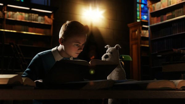 Our first glimpse of Tintin was luminous