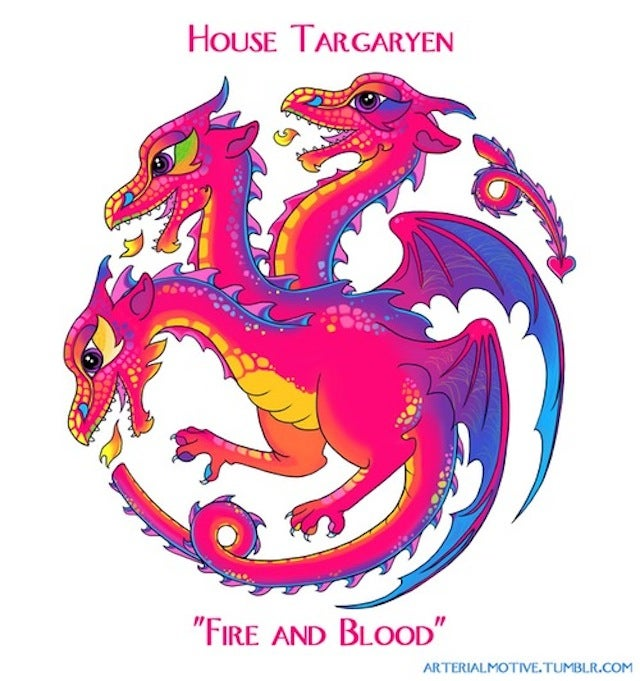 It's time for the sparkly rainbow version of Game of Thrones