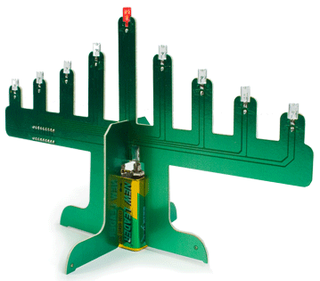 LED Motherboard Menorah Is Hanukkah 2.0
