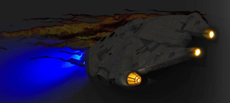 This Millennium Falcon Night Light Makes a Kessel Run Right Through Your Wall