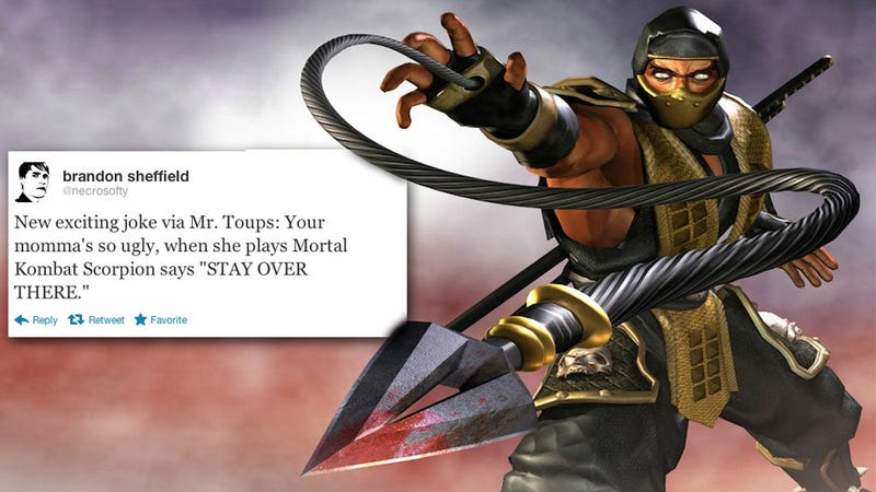 Mortal Kombat's Scorpion Serves Up A Wicked 'Your Mamma' Joke
