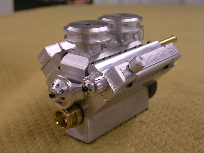 Really, Really Tiny Compressed Air V8 Engine