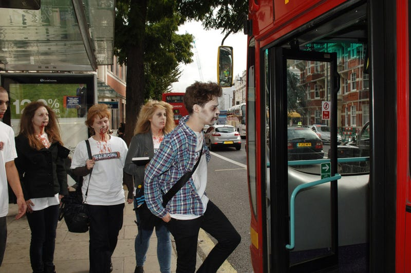 Zombies Stalk The Streets Of London