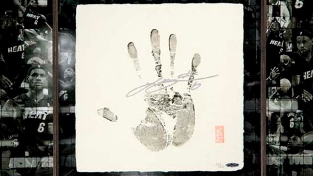 For Just $3,000, You Can Own LeBron's Japanese Handprint
