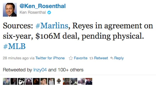 Ken Rosenthal: Jose Reyes And Marlins Agree On $106M Deal