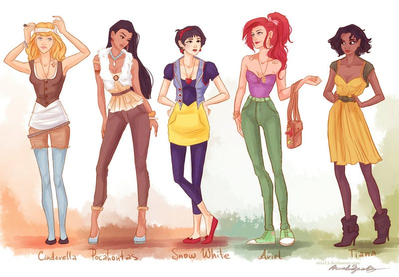 The Disney Princesses, if they lived in Williamsburg or Portland
