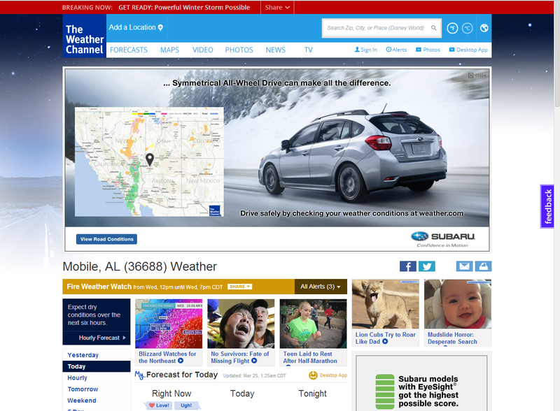 The New weather.com Is a Sad Shell of Its Former Self