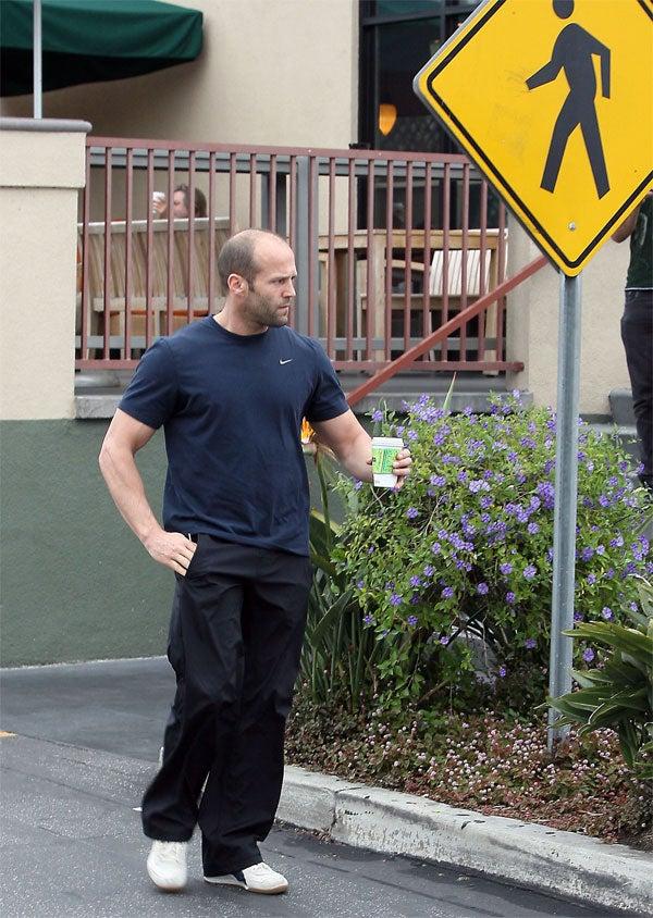 Jason Statham Parrots Pedestrian Portrait