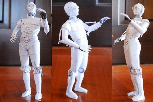 Saturday Art Project: K-3PO Papercraft