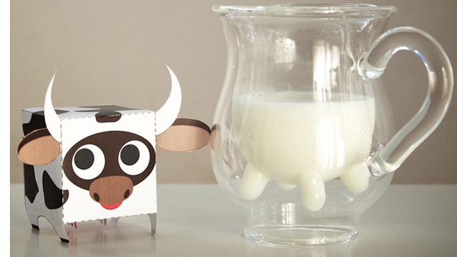 The Heifer Pitcher Reminds You What You're Pouring on Your Cereal—Cow Juice