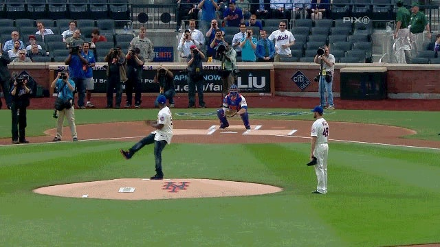50 Cent Threw A Horrendous First Pitch At Tonight's Mets Game