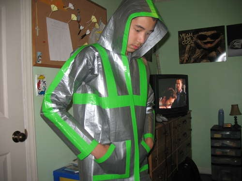 Duct Tape Hoodie Is Basically Geek Chain Mail...Err, Geekier Chain Mail