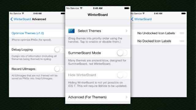 Winterboard Updated for iOS 7, Ready for Customization