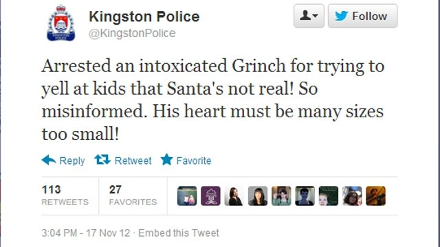 Police in Canada Arrest Devil-Horned Grinch for Telling Kids 'That Santa's Not Real'