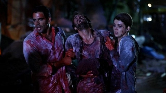 First footage from Eli Roth's disaster movie Aftershock bloodies up a South American nightclub
