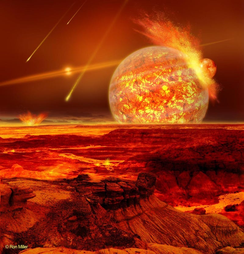A Newly Discovered Planet, in its Explosive Infancy