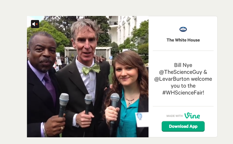 The White House Picked the Perfect Stars for Its First Vine