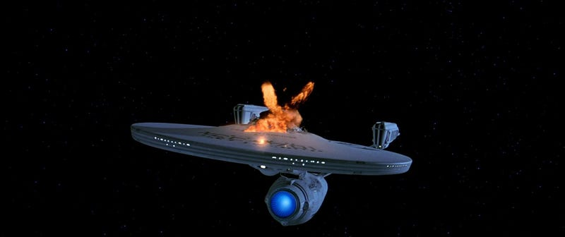 What's the greatest spaceship explosion of all time?