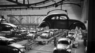 WWII Bomb at Volkswagen Wolfsburg Factory