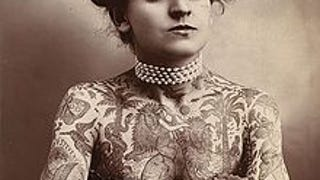 I can't stop marveling over this fabulous and tattooed lady.