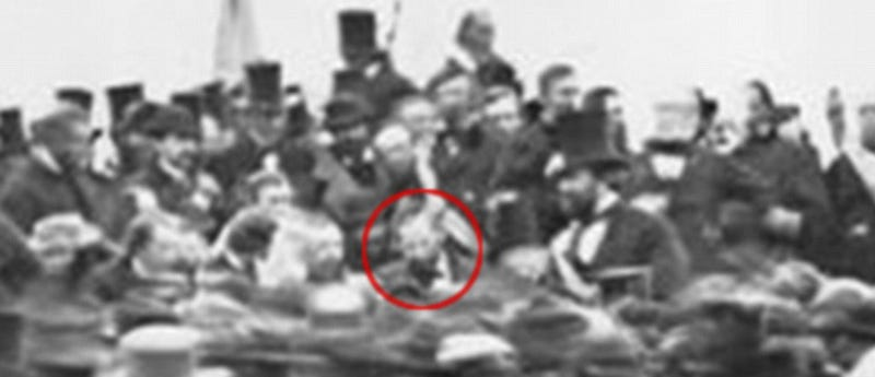 A new photo emerges of Lincoln at Gettysburg