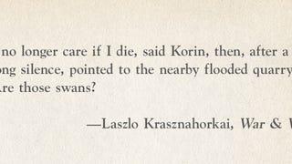 Bréking: Krasznahorkai Lászlóé minden idők egyik legjobb kezdőmondata
