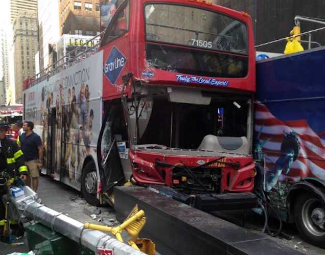Times Sq. Crash: Bus Driver Charged With Driving While Ability Impaired
