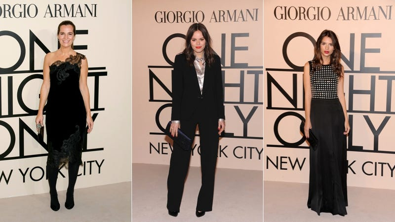 Little Black Dresses and Sharp Black Trousers at the Armani Event