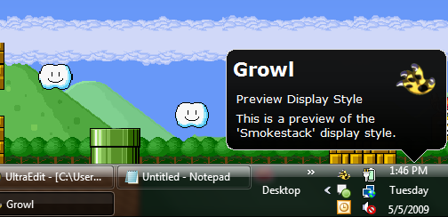 Growl for Windows Adds Mac-Style Notifications