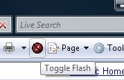 Temporarily Disable Flash in Internet Explorer with Toggle Flash