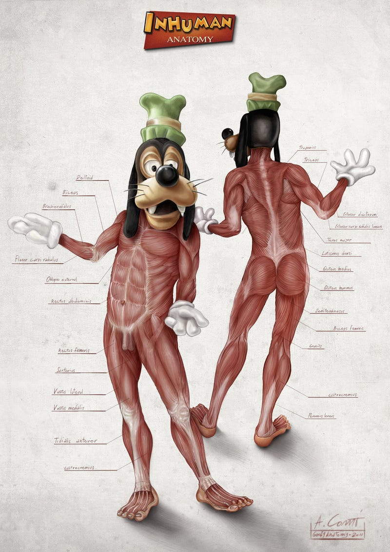Skinless Mickey Mouse will haunt your dreams
