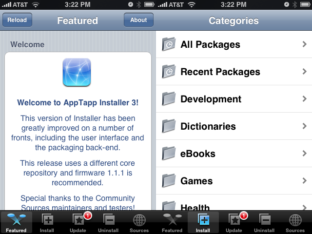 iPhone Installer App Updated to 3.0beta3 With Many Improvements