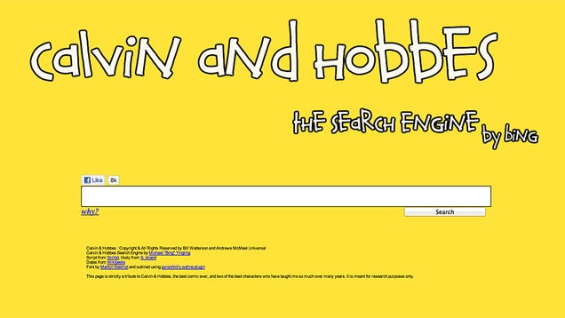 This Calvin and Hobbes Search Engine Just Made the World a Much Better Place