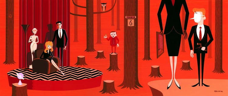Gorgeous Twin Peaks-inspired art exhibit wants you to Fire Walk With Me