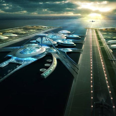 Proposed future London airport would float atop the Thames