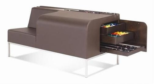Leather Cue Bench is the Classy Way to Store Your Billiards Gear
