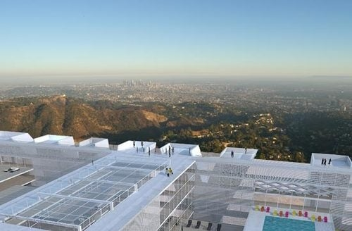 A Hotel Hidden Within the Hollywood Sign Itself