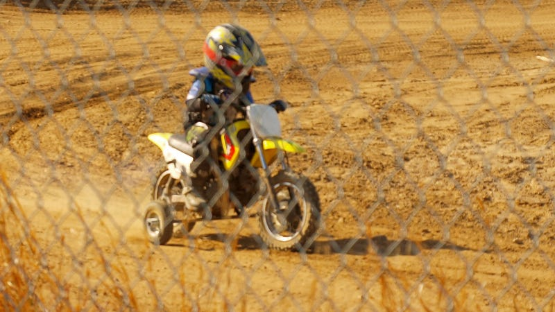 This Motocross Rider Is So Small He Needs Training Wheels