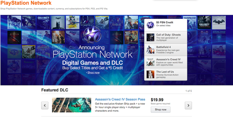 The New Amazon Playstation Network Store