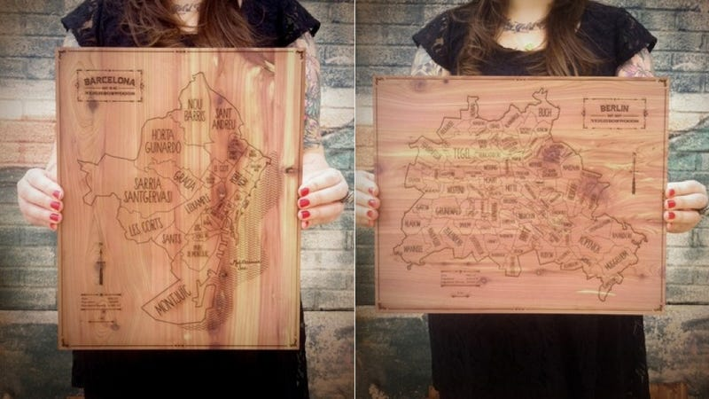 Wood Carved Maps, NYC Rooftop Loft, and More