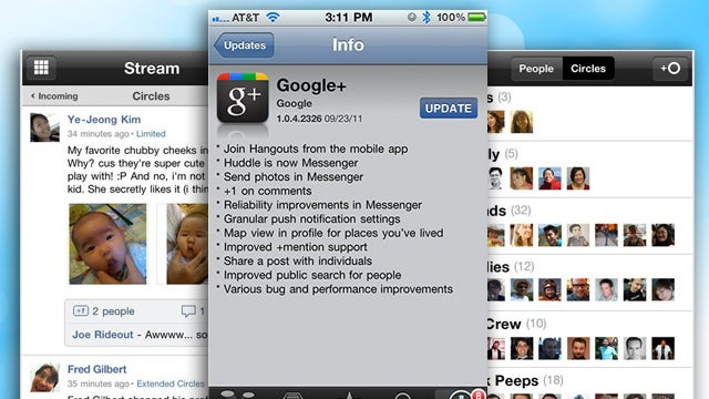 Google Updates Google+ App for iOS, Adds Hangouts and Improved Notifications