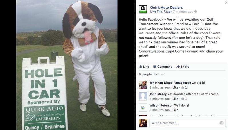 Dealer Awards Car To Dog Who Won Golf Contest After Reddit Pressure