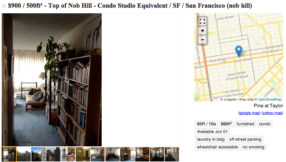 This Is What Passes For a Craigslist Rental In San Francisco